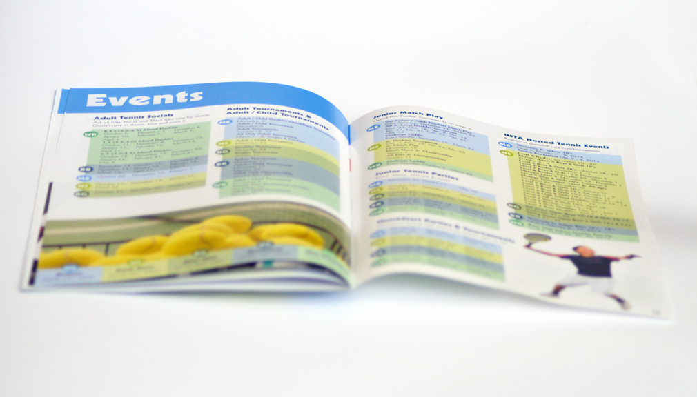 tennis brochure design